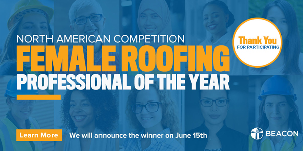 female roofing pro banner