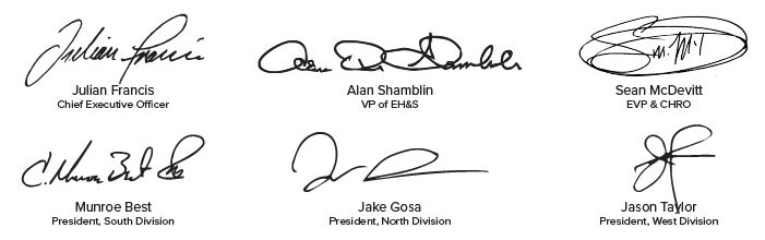 health and safety signatures